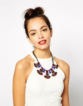 Ожерелье с камнями New Look Navette