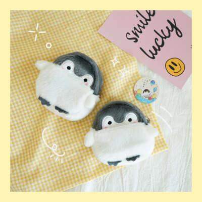 плюшевый мини бумажник с пингвином