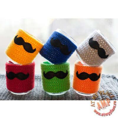Кружка в чехле Mustache - разные цвета