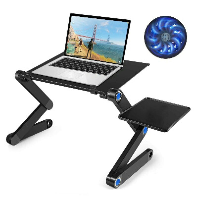 Столик/подставка для ноутбука lemleo с охлаждением для ноутбука и планшета, подставка для ноутбука складная с вентиляторами и регулировкой по высоте, маленький компьютерный столик в кровать, 46х26х47 см
