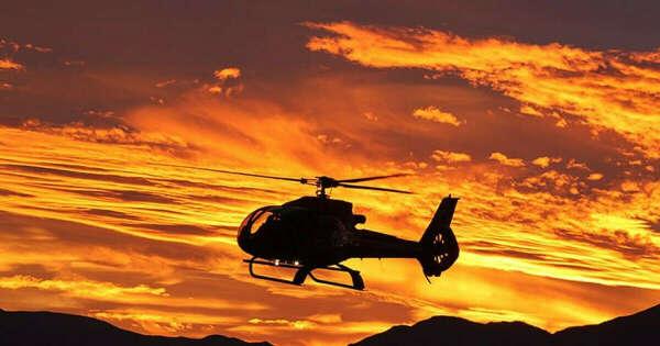 Вертолетная прогулка на закате