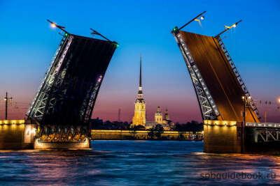 Посмотреть на разводные мосты ночью