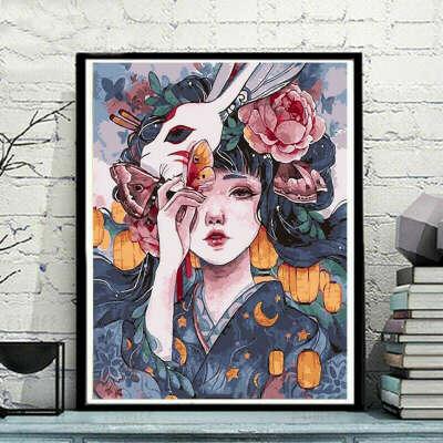 Картина по номерам «сделай сам», цветной аниме пейзаж, масляная живопись, ручная роспись, домашний декор, Подарочная картина с наполнением, 40x50 см Картины по номерам    АлиЭкспресс