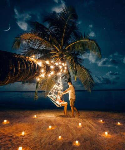 Романтический вечер с любимым на пляже