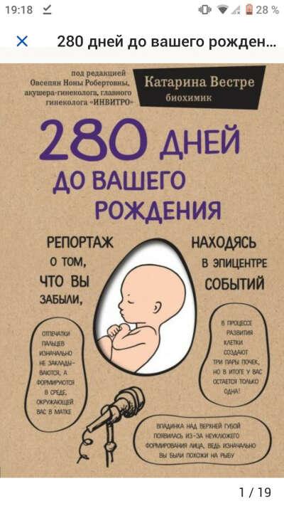 Книга - 280 дней до вашего рождения