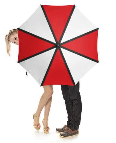 Зонт-трость с деревянной ручкой Umbrella