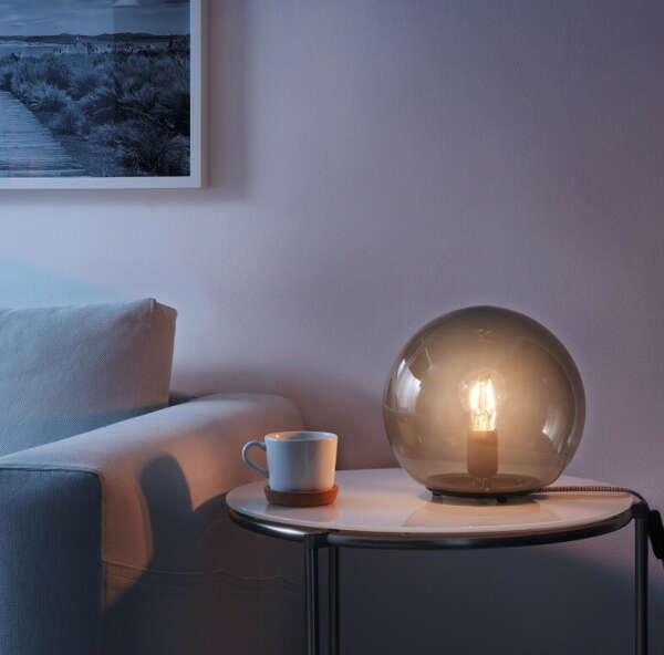FADO ФАДУ Лампа настольная, серый25 см