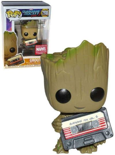 Funko Pop Marvel Guardians of The Galaxy Vol 2 Groot Mixtape