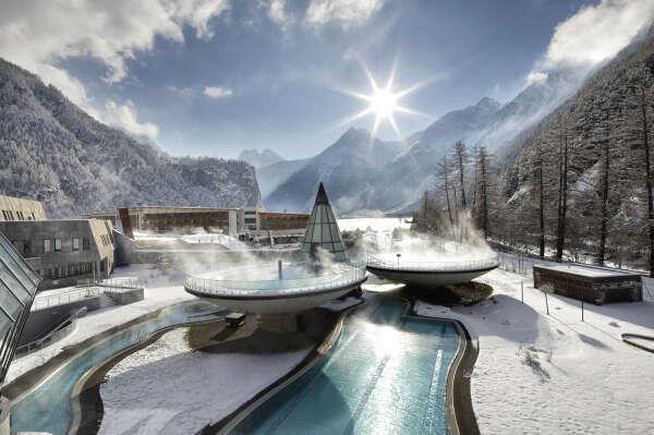 Термальный курорт в горах в Австрии