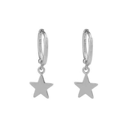 Серьги-кольца со звездочкой