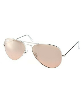 Крупные солнцезащитные очки-авиаторы Ray-Ban Silver & Pink