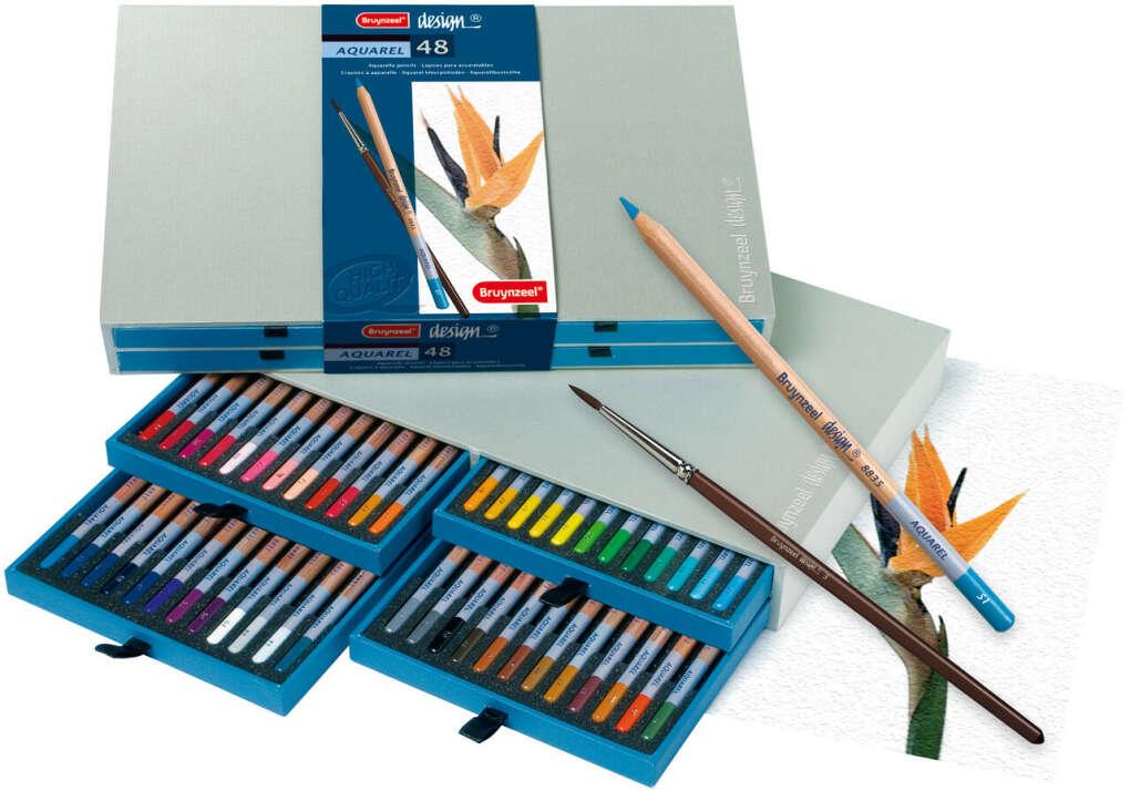 Bruynzeel sakura акварельные карандаши 48 цветов