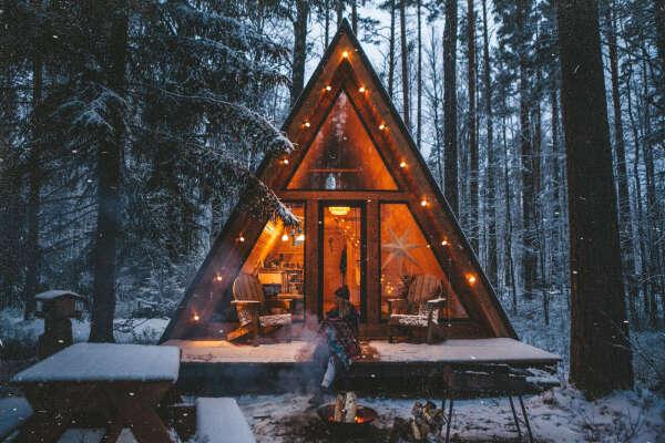 Домик в лесу на выходные