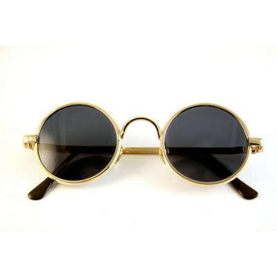 vintage round gold metal John Lennon sunglasses high quality lens