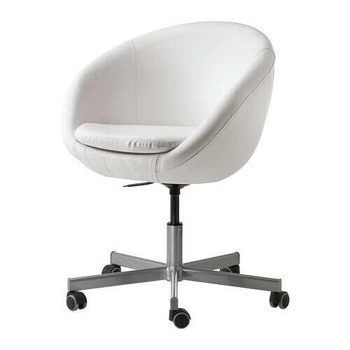 СКРУВСТА Рабочий стул, Идгульт белый
