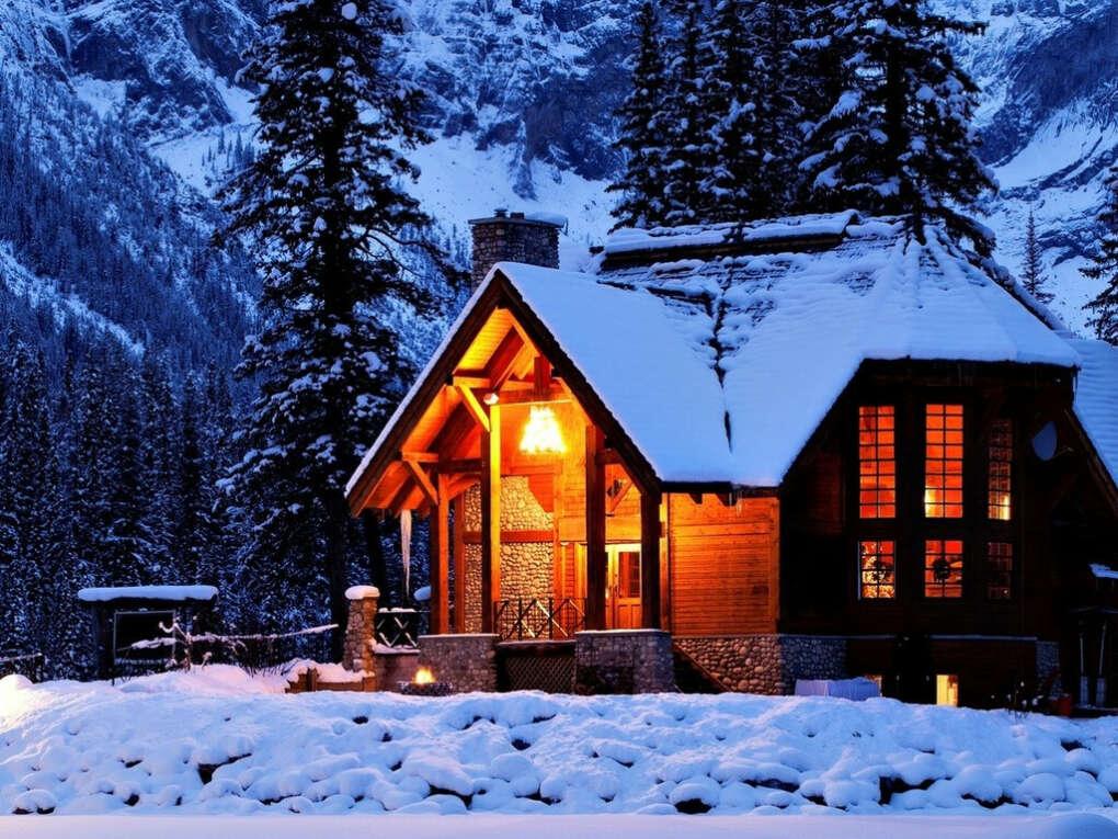 Отметить Новый год в уютном домике в горах