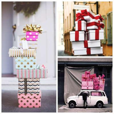 Хочу много подарков в красивых коробочках