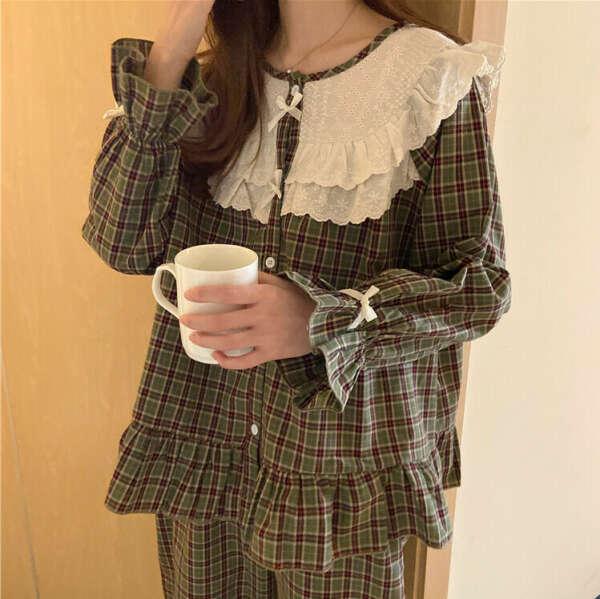 Винтажная клетчатая пижама ♡