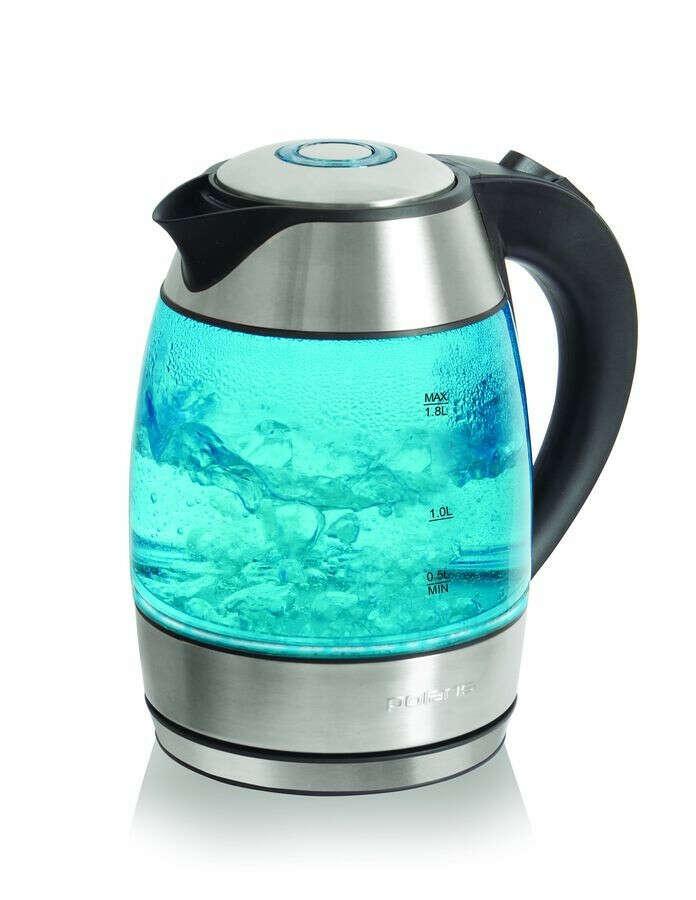 Чайник POLARIS PWK1889CGL, 2200Вт, серебристый и черный