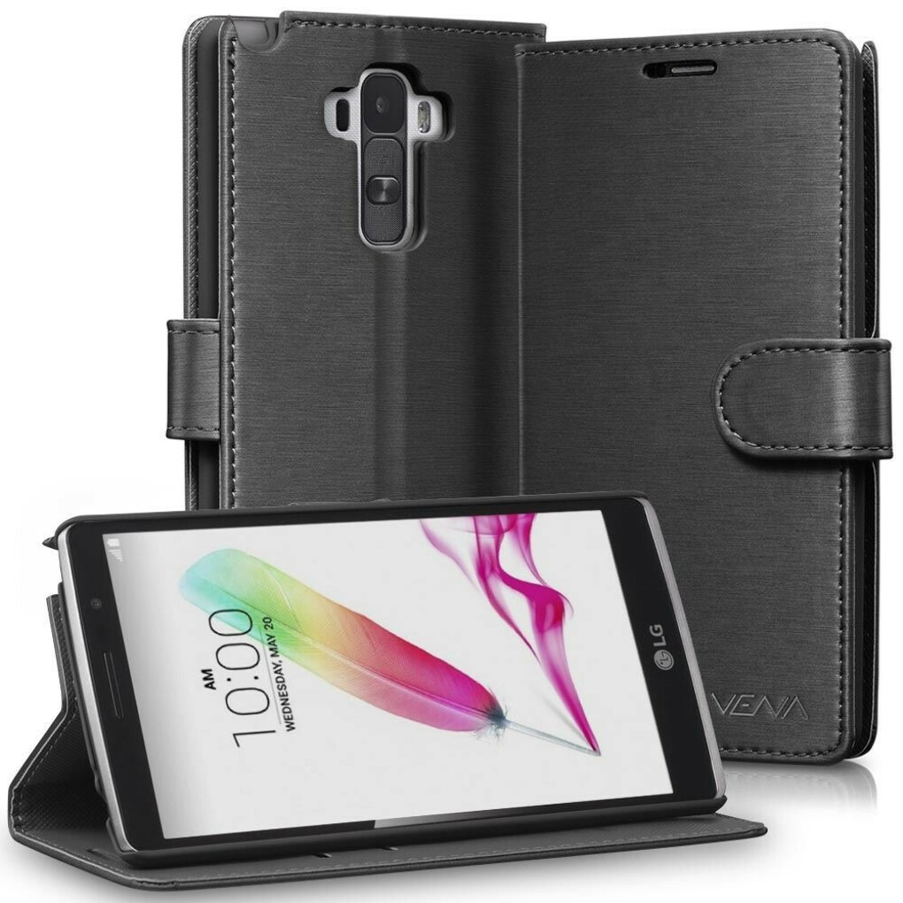 vSuit Draw Bench PU Leather Wallet Flip Stand Case with Card Pockets for LG G Stylo
