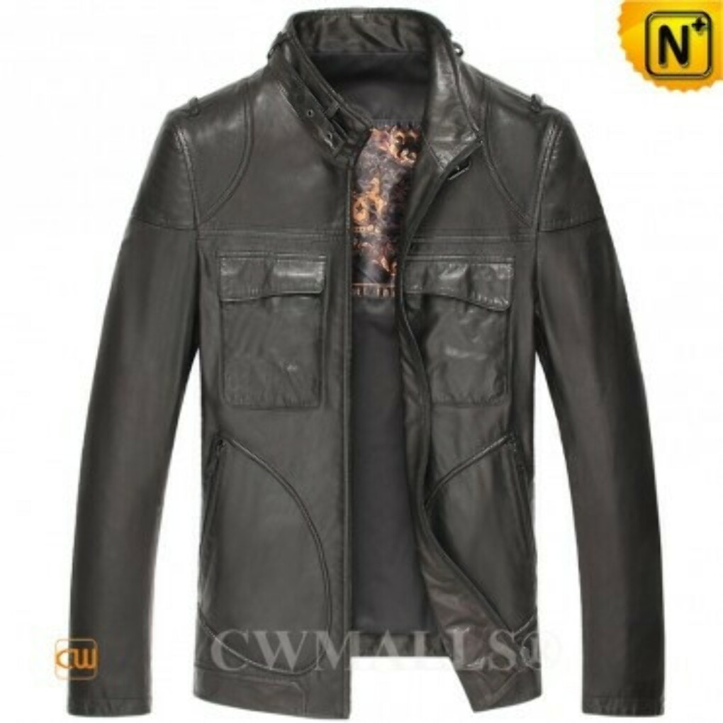 CWMALLS® Designer Bomber Leather Jacket CW806047
