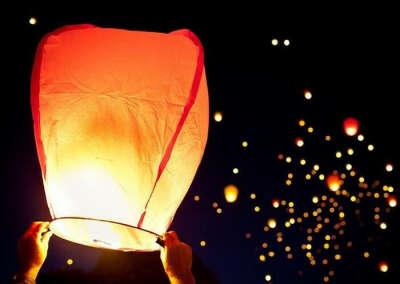 Запустить небесный фонарик