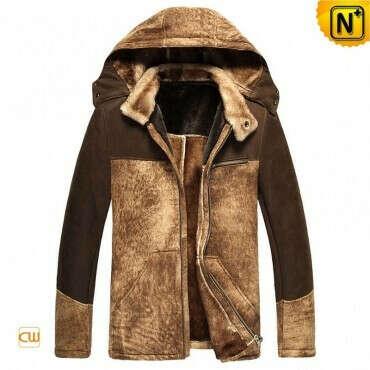 CWMALLS® Portland Sheepskin Jacket with Hood CW877130