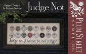 """Схема для вышивания Plum Street Samplers """"Judge Not"""""""