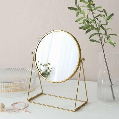 ЛАССБЮН Зеркало настольное - золотой - IKEA