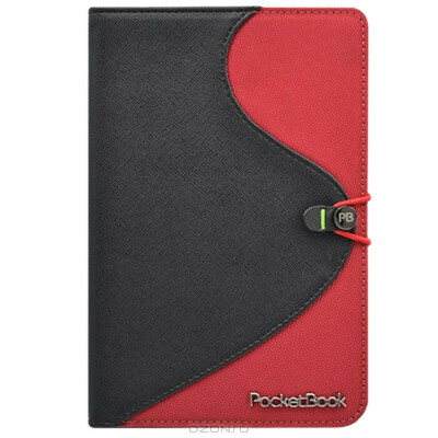 Viva S-style Lux обложка для PocketBook Touch, Black Red