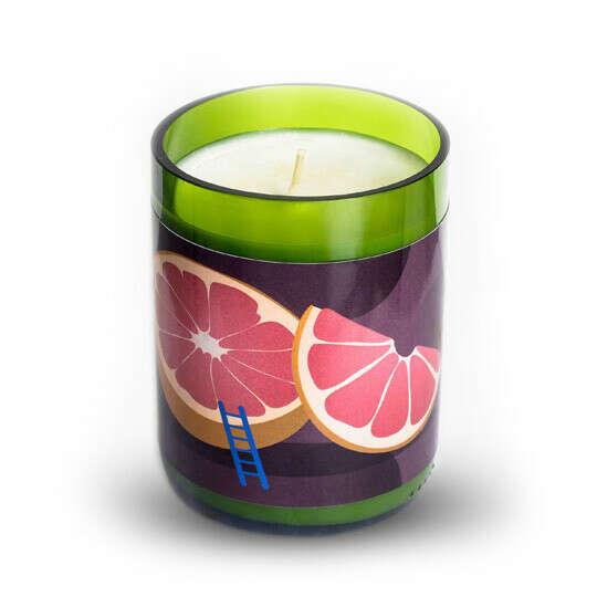 Свеча в винной бутылке Fuits  / Грейпфрут и ландыш