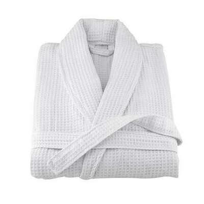 Вафельный светлый халат икеа