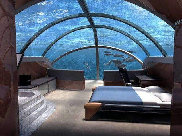 Пожить в подводном отеле