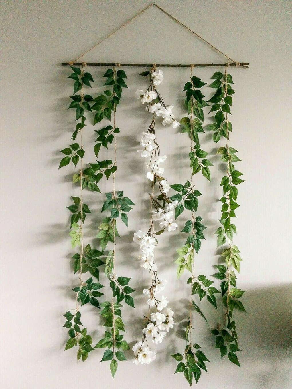 Искусственные цветы для декора (цвет вишни и зелень)