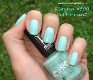 Rimmel London Pro Professional Finish Nail Polish 500 Peppermint