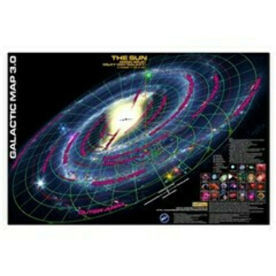 Galactic Map 3.0 Posters. Project Rho Productions