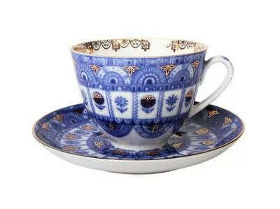 Чайная чашка с блюдцем «Арочки» на форме «Весенняя»