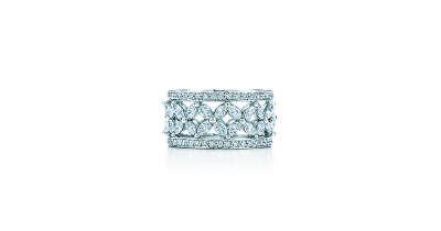 Tiffany & Co. -  Tiffany Victoria™: кольцо с бриллиантами в канальной закрепке