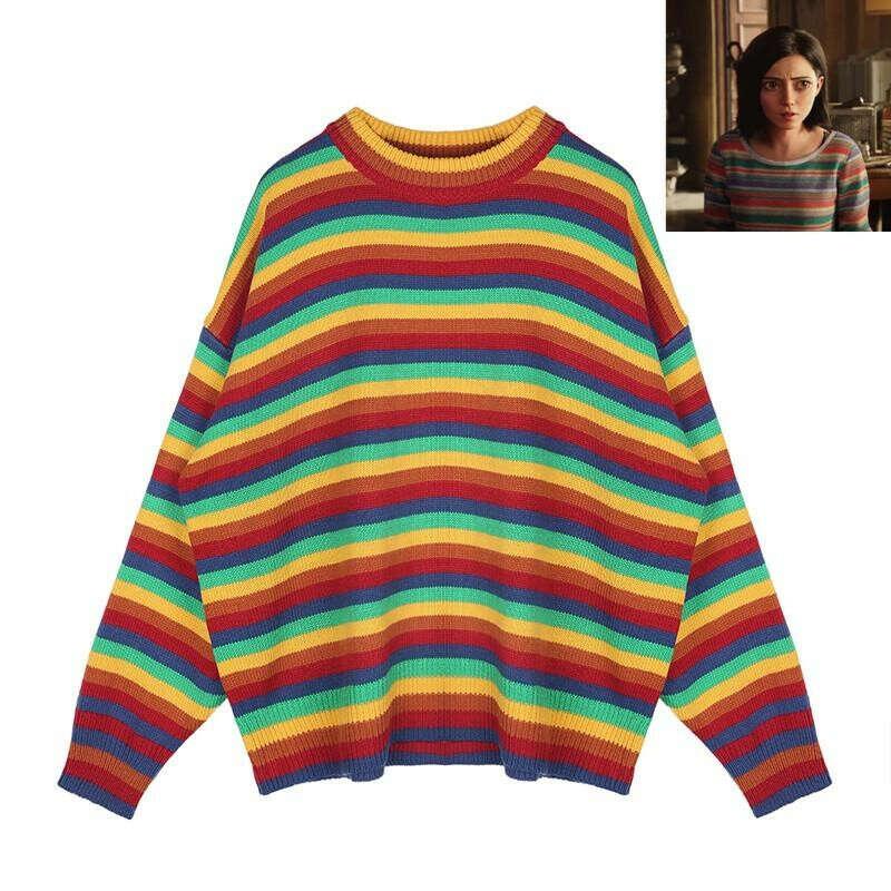 Радужный пуловер/свитер