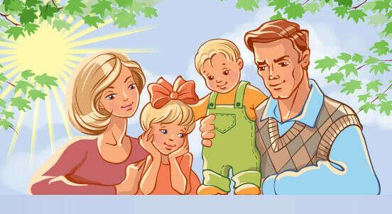 Счастливую семью.