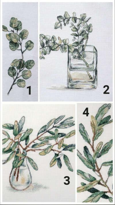 Ботанические вышивки от Panna