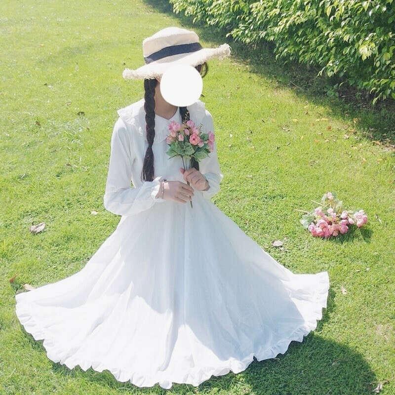 Нежное женское платье на лето,милое платье японского стиля