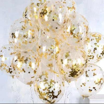 Много красивых воздушных шаров на день рождения