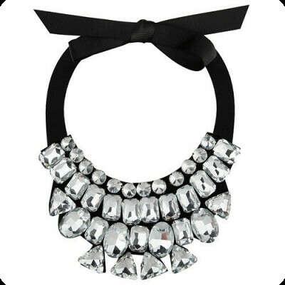 Воротничок с серебристыми кристаллами Jewelry&Co.