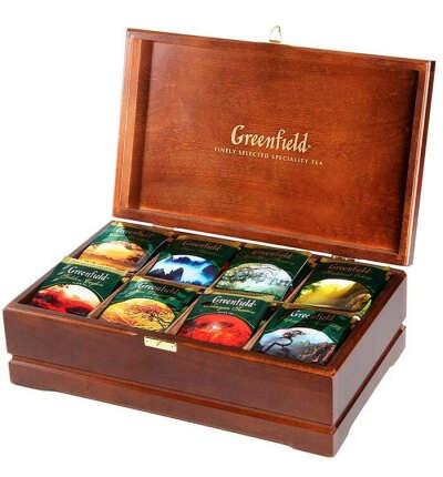 Greenfield подарочный набор, деревянная шкатулка