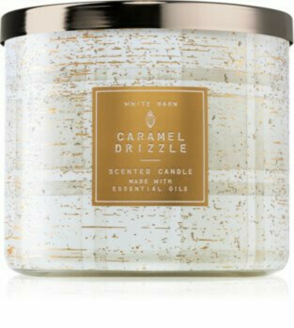 Bath & Body Works Caramel Drizzle 3-Wick Candle