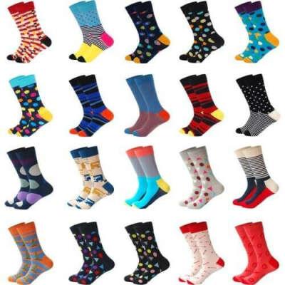 Мужские носки  (разноцветные)