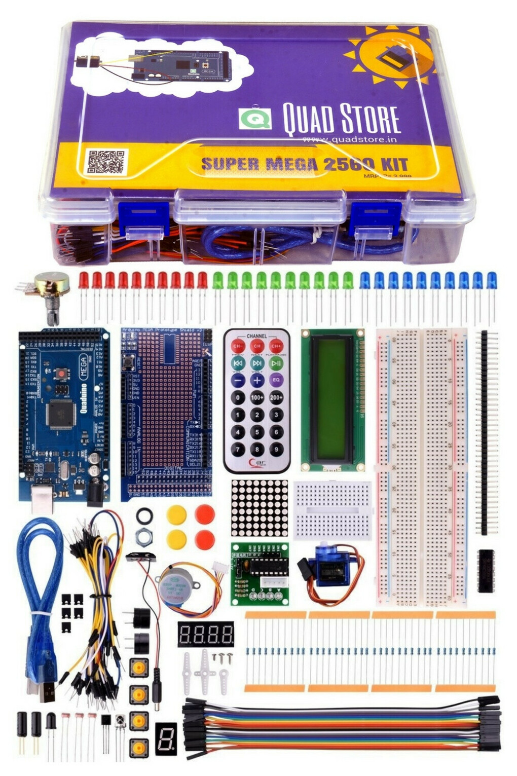 Quad Store(TM) - Super Mega 2560 Kit for Arduino (Beginner's 2560 Kit) - Quad Store