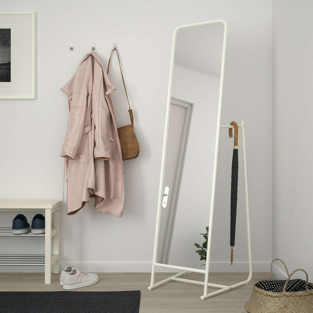 КНАППЕР Зеркало Напольное, белый, 48x160 см купить в интернет-магазине - IKEA