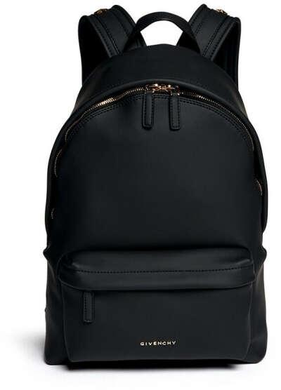 Небольшой черный кожаный портфель